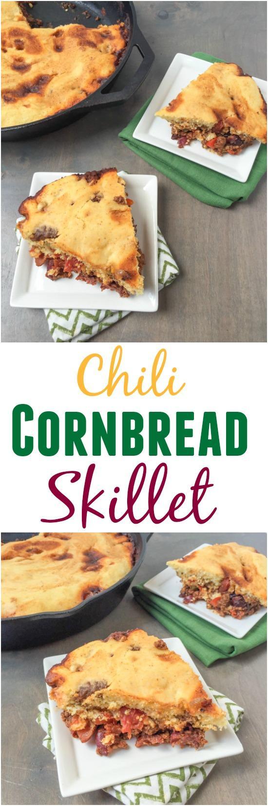 Chili Cornbread Skillet