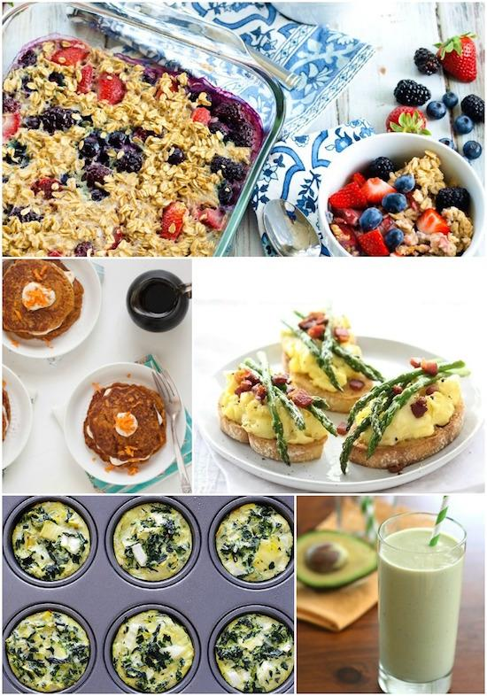 Easy breakfast ideas using spring fruits and vegetables.