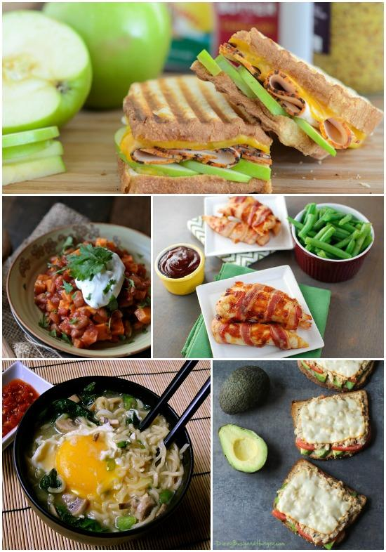 5 lunch recipes you can make with 5 ingredients or less.