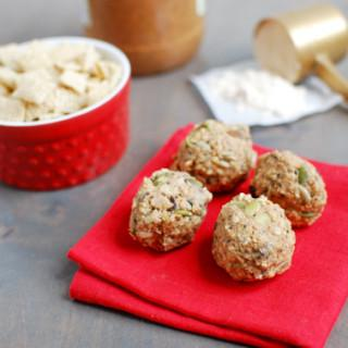 These Almond Butter Protein Balls are a gluten-free, no-bake snack recipe that's great to have on hand for a busy afternoon or to help refuel post-workout!