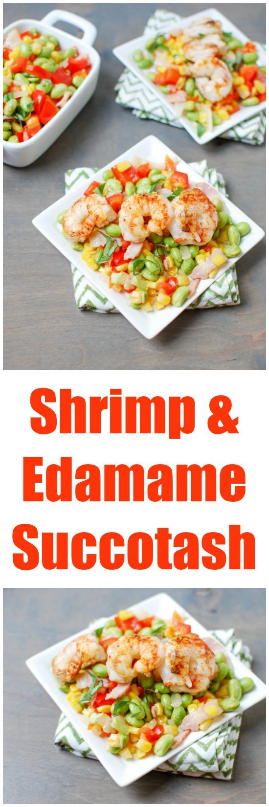 Bursting with summer flavors, this Shrimp and Edamame Succatash is a fun twist on the traditional and makes the perfect weeknight dinner.