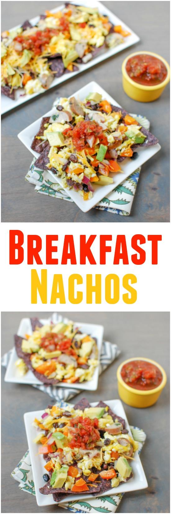 Gluten-free and easy to customize, these Breakfast Nachos are quick, easy way to change up your breakfast routine!