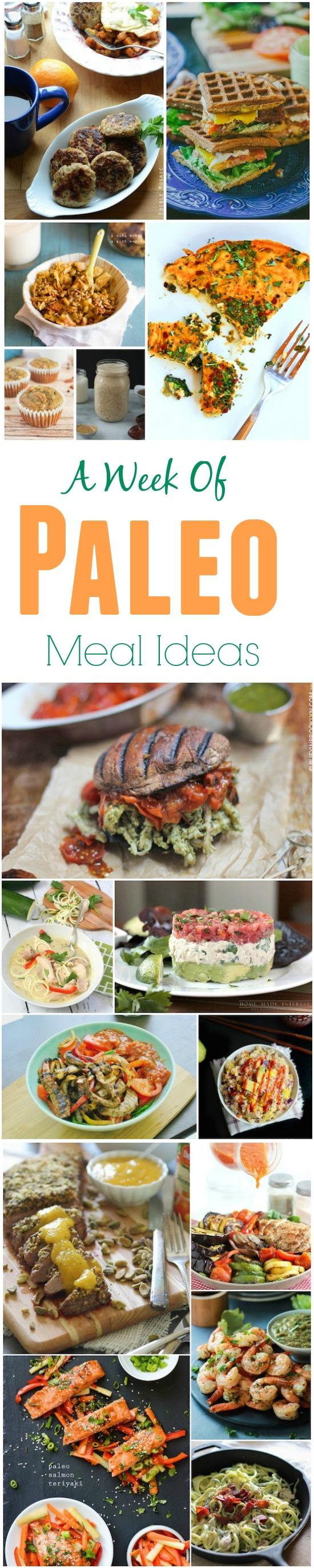 A week of paleo meal ideas to help you plan your menu next week!