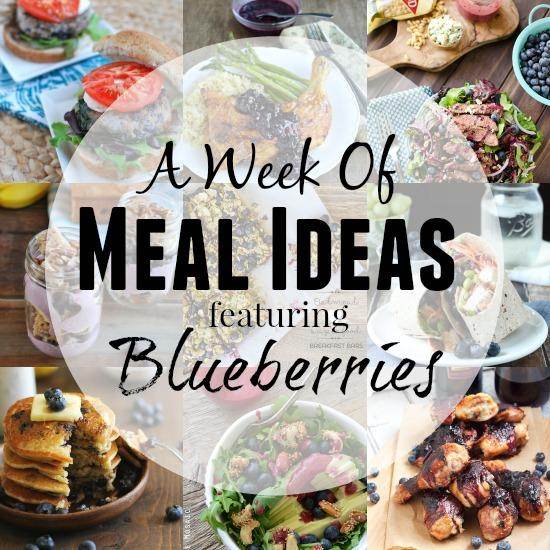 A Week of Meal Ideas Featuring Blueberries