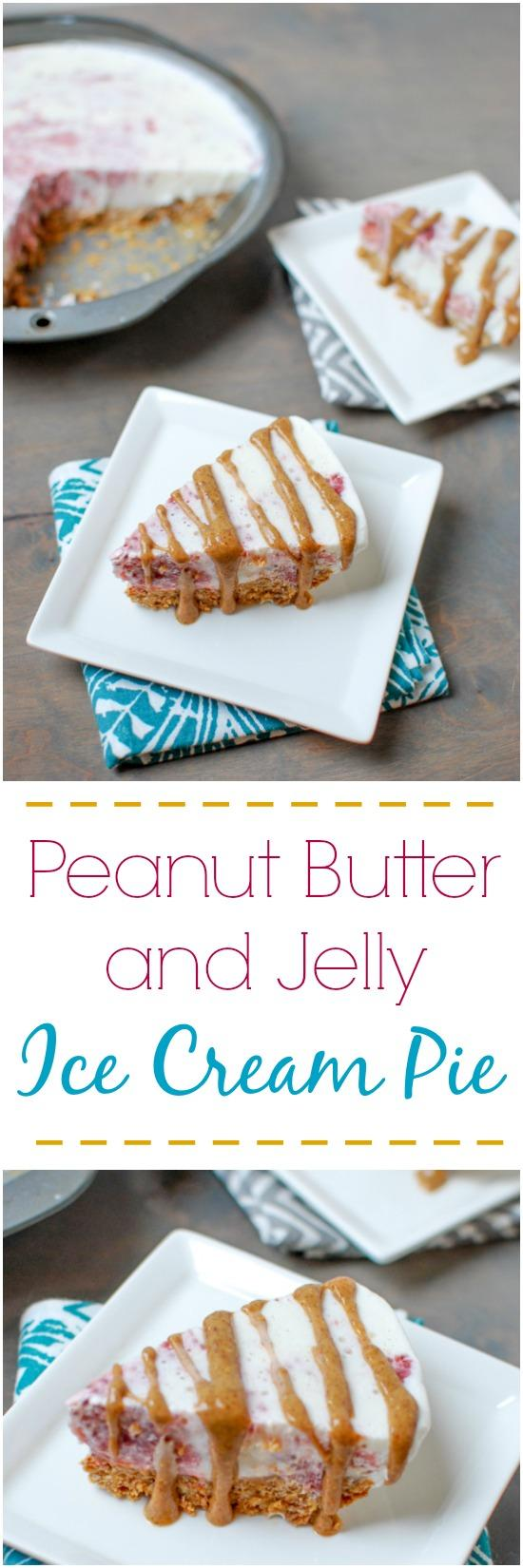 Love ice cream? Try this Peanut Butter and Jelly Ice Cream Pie! It's like a grown up version of your favorite childhood sandwich, for dessert!