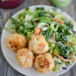 Paleo Turkey Sweet Potato Meatballs with salad