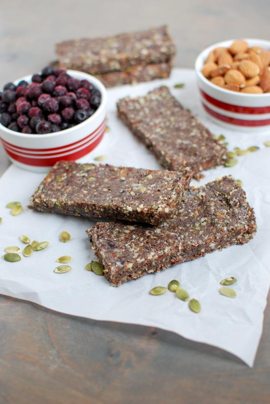 These Wild Blueberry Energy Bars are packed with nutritious ingredients and perfect for refueling after a workout!