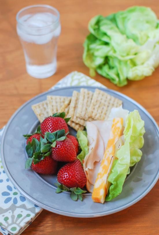 Meal Meal - Lettuce wrap, crackers and fruit