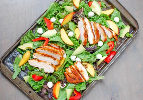 A light and fresh summer lunch or dinner, this Grilled BBQ Chicken Salad is simple, healthy and full of flavor!