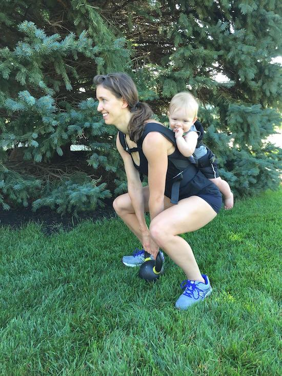 A babywearing workout that targets your lower body!