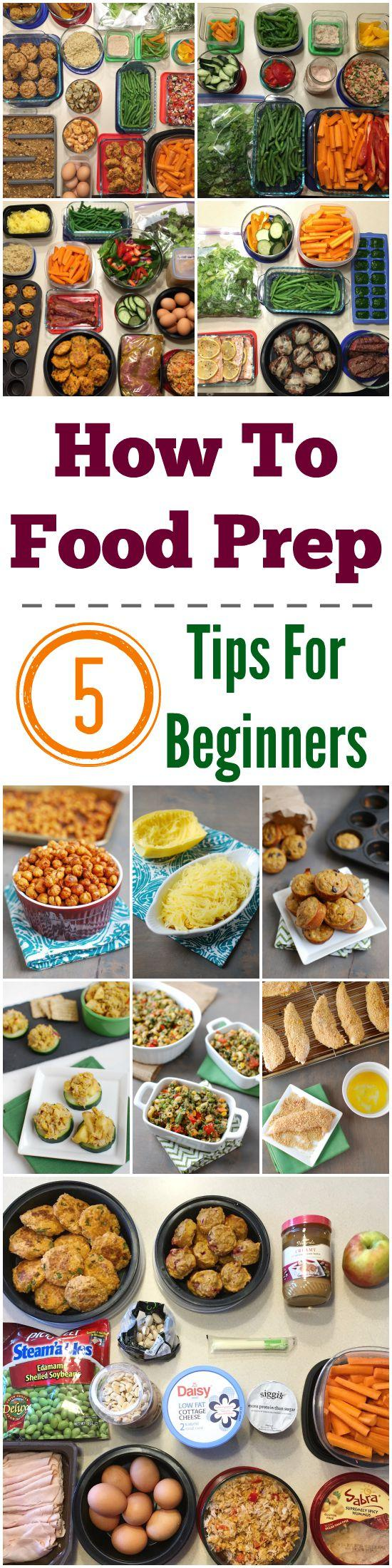Ready to start prepping food but aren't sure where to start? Here are 5 tips for how to food prep for beginners!