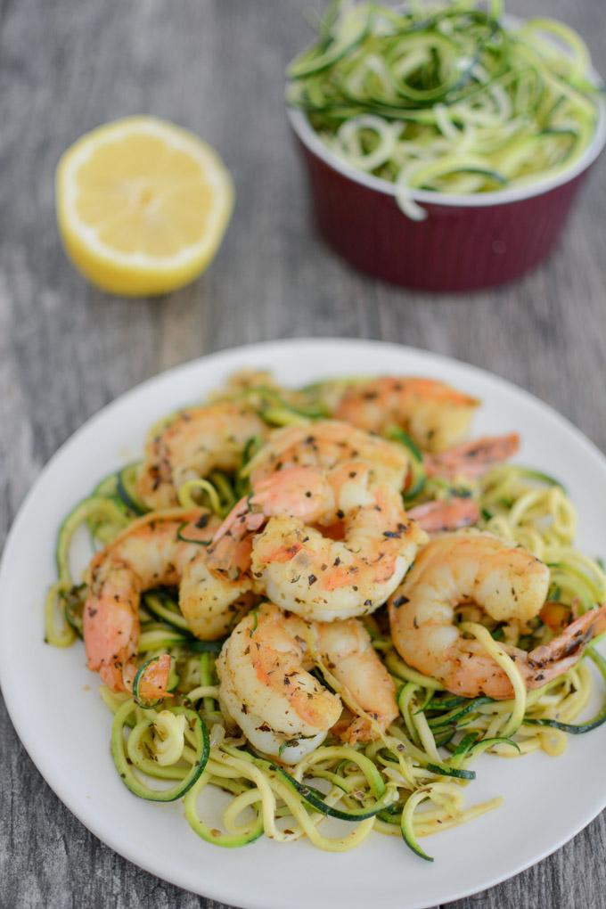 Paleo Shrimp Scampi with zoodles