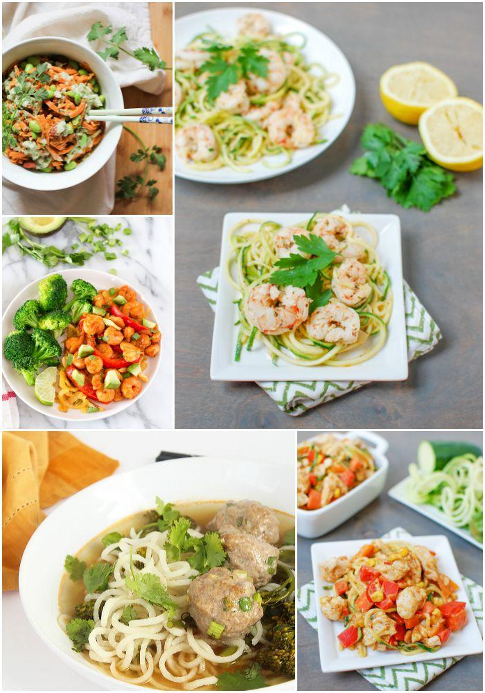 A Week of Spiralized Dinner recipes