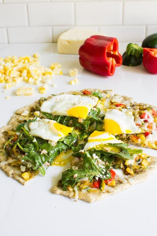 Shredded Zucchini Breakfast Pizza For One
