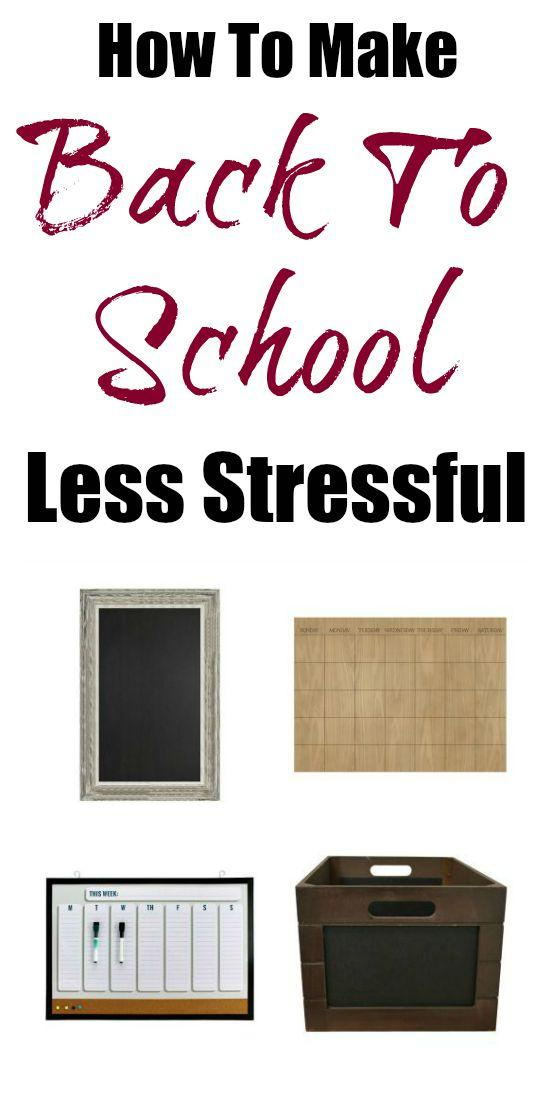 How To Make Back To School Less Stressful