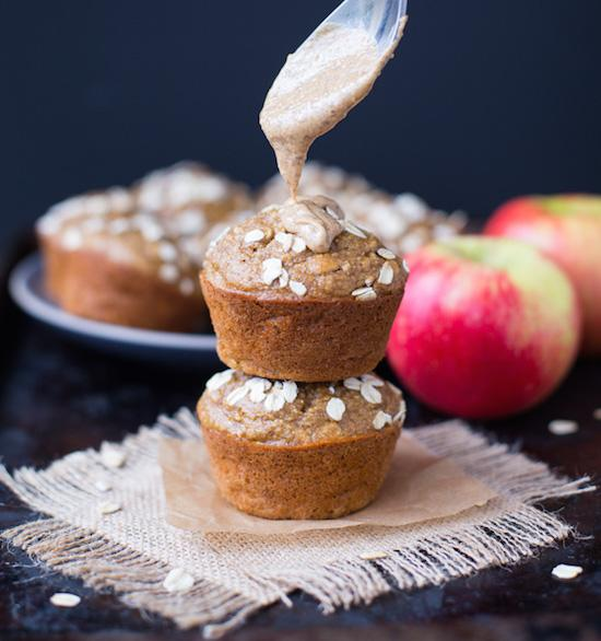 Apple Almond Butter Muffins