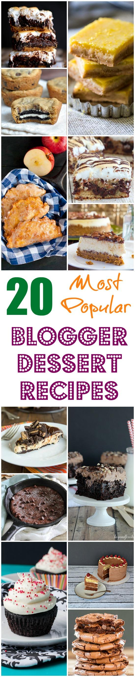 20 of the most popular dessert recipes from food bloggers