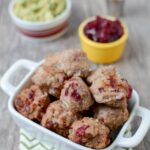 These easy Cranberry Meatballs are a great way to use up leftover cranberry sauce and make the perfect appetizer for a holiday party.