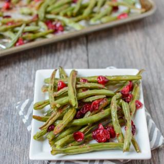 Ginger Garlic Roasted Green Beans With Cranberries