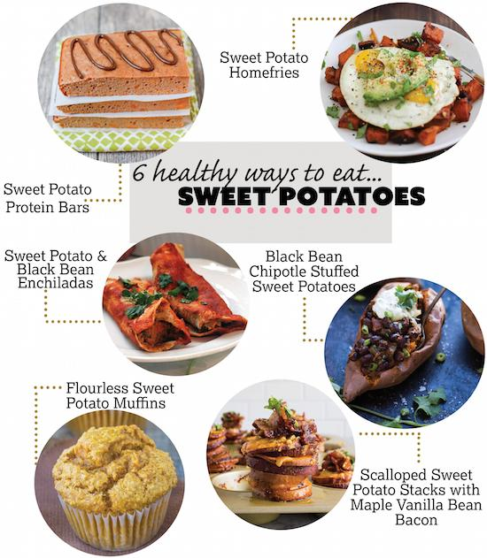 Love sweet potatoes? Here are 6 healthy ways to eat them from breakfast to dessert!