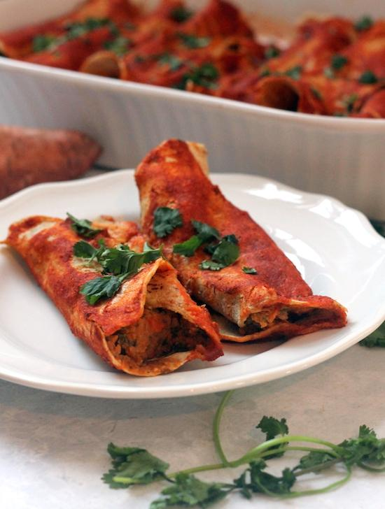 Vegan Sweet Potato Enchiladas