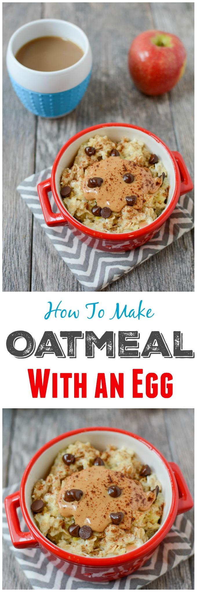 How To Cook Oatmeal With An Egg In The Microwave