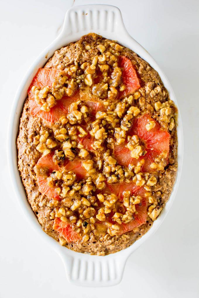 Grapefruit Baked Oatmeal