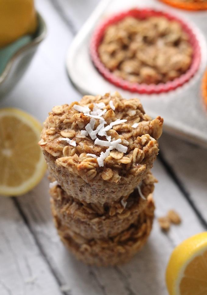 Lemon Baked Oatmeal Cups