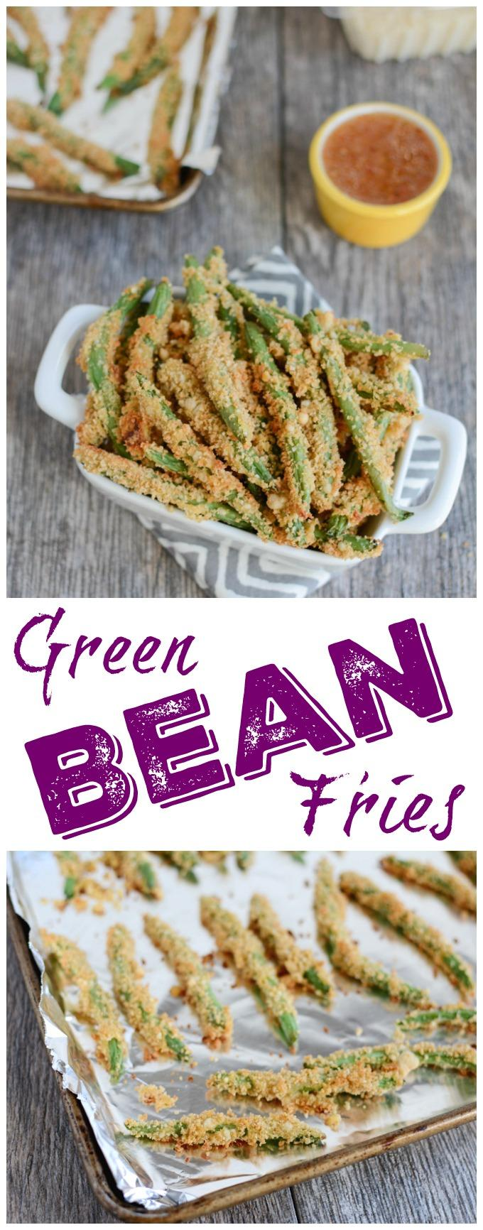 This recipe for Crispy Green Bean Fries is a fun way to change things up at dinner! They're easy to make and kid-friendly too!