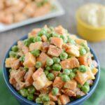 Pea Salad with Sweet Potatoes