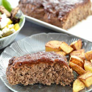 This Gluten-Free, Paleo Meatloaf recipe is the perfect family dinner. Make it ahead of time and reheat on a busy night.