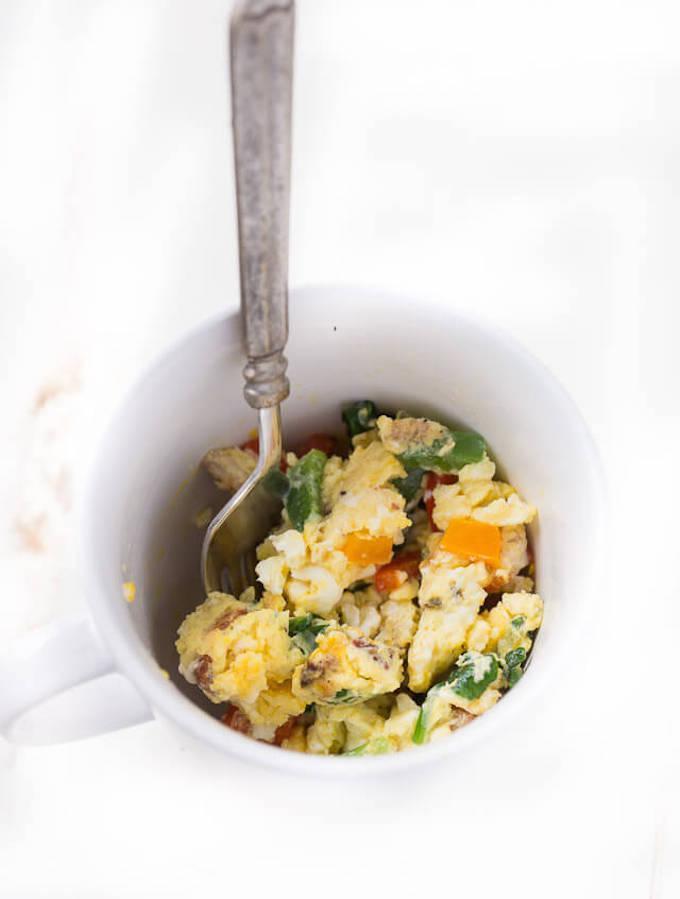 Easy 1 Minute Egg in a Mug Breakfast