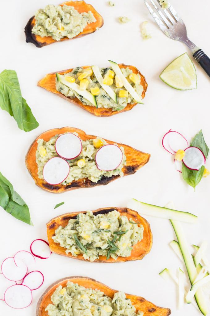 Lima Bean Sweet Potato Toast