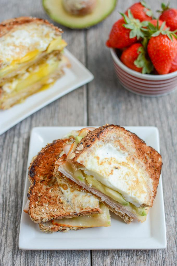 This Egg-In-A-Hole Breakfast Sandwich is a protein-packed, healthy breakfast recipe that's ready in under 5 minutes. The perfect way to start your day!