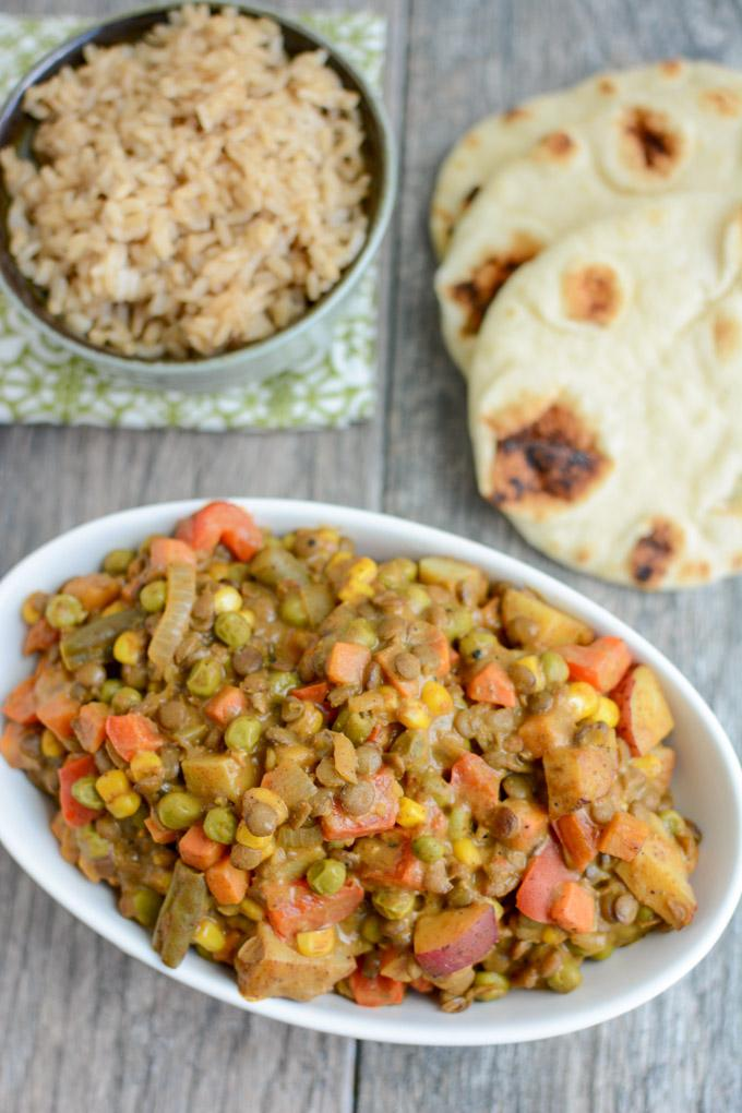 Lentil vegetable curry quick vegetarian recipe this lentil vegetable curry is an easy vegetarian recipe thats perfect for a busy weeknight forumfinder Choice Image