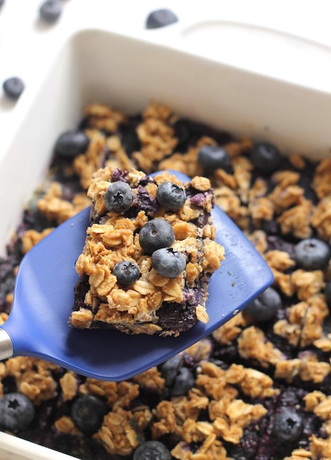 Blueberry Oat Snack Bars