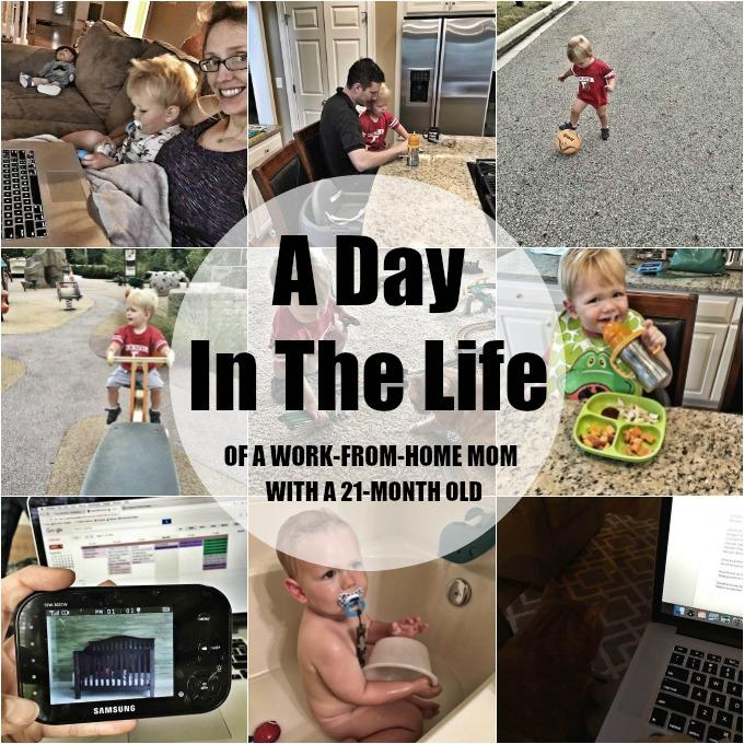 A Day In The Life of a Work-From-Home Mom with a 21-Month Old