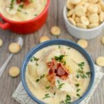 This Easy Fish Chowder tastes better than longer it sits! Make a big pot over the weekend and enjoy for lunch or dinner all week!