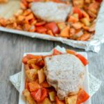 Sheet Pan Pork Chops with Sweet Potatoes and Apples