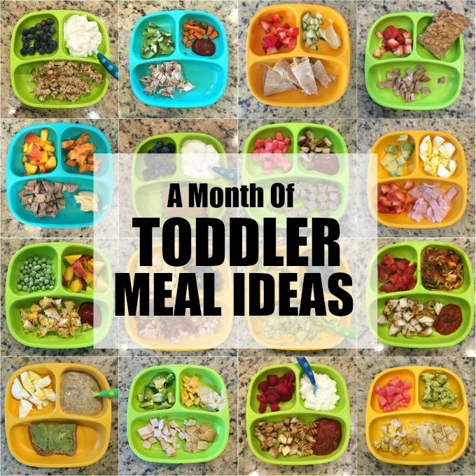 Easy Toddler Meal Ideas August