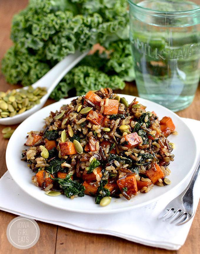 Caramelized Sweet Potato & Kale Fried Rice