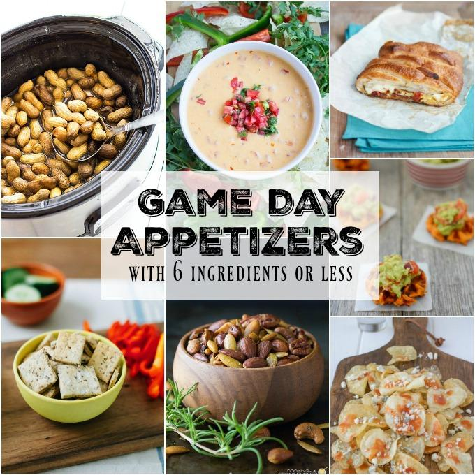 Need some easy appetizers for game day? Here are 15 delicious recipes all with six ingredients or less!