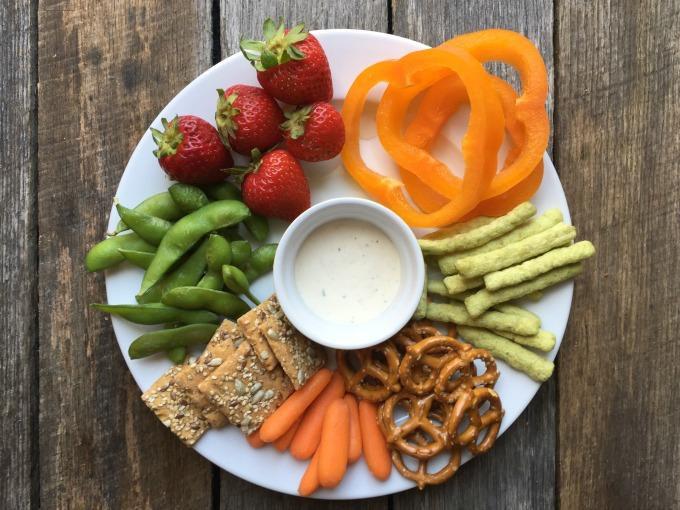 Snack Platter with Ranch