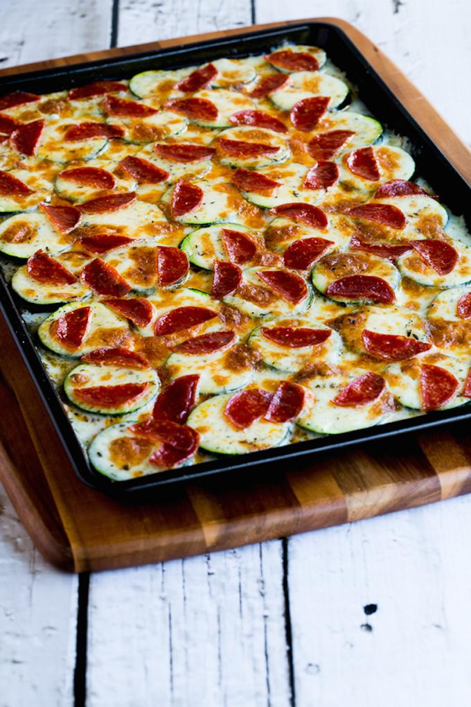 Broiled Zucchini Pizza
