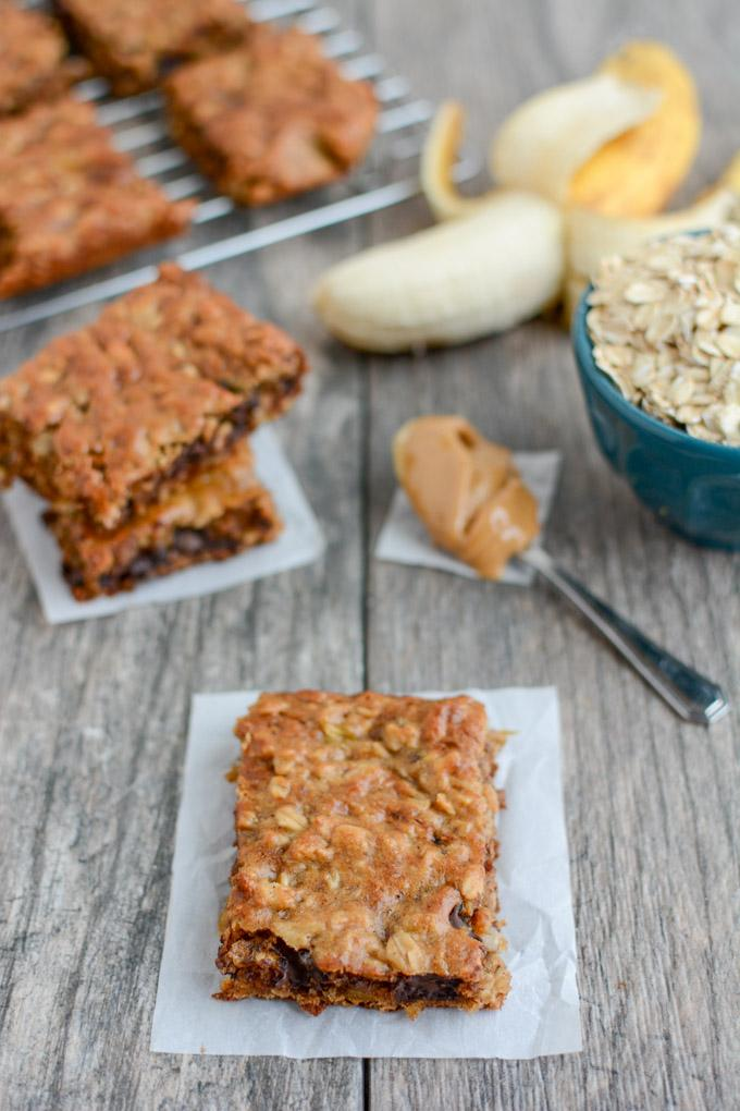 Easy Banana Oat Bars