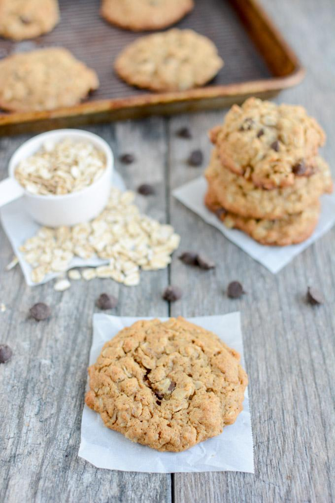 These Dairy-Free Lactation Cookies are the perfect snack for nursing moms. Not breastfeeding? Leave out the brewers yeast and enjoy an oatmeal chocolate chip cookie for dessert!