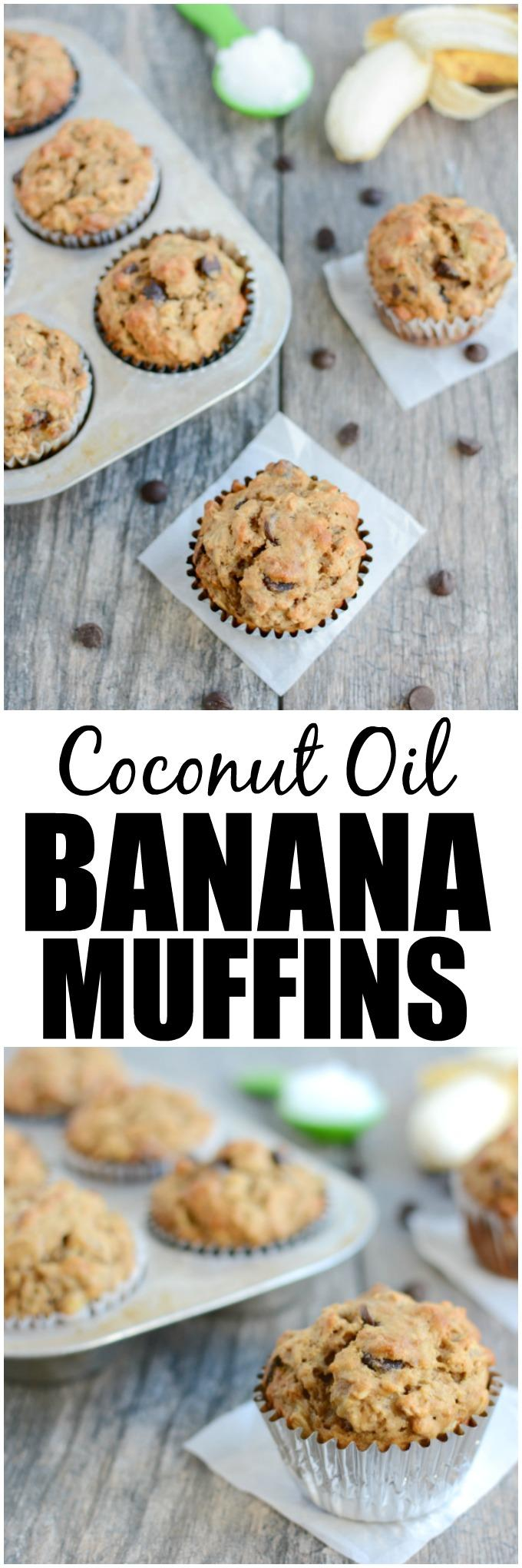 banana muffins coconut oil