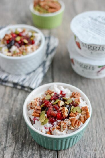 This Berry Farro Breakfast Bowl recipe is a fun twist on overnight oats. Packed with protein and fiber, it's a healthy breakfast option that's ready in minutes!