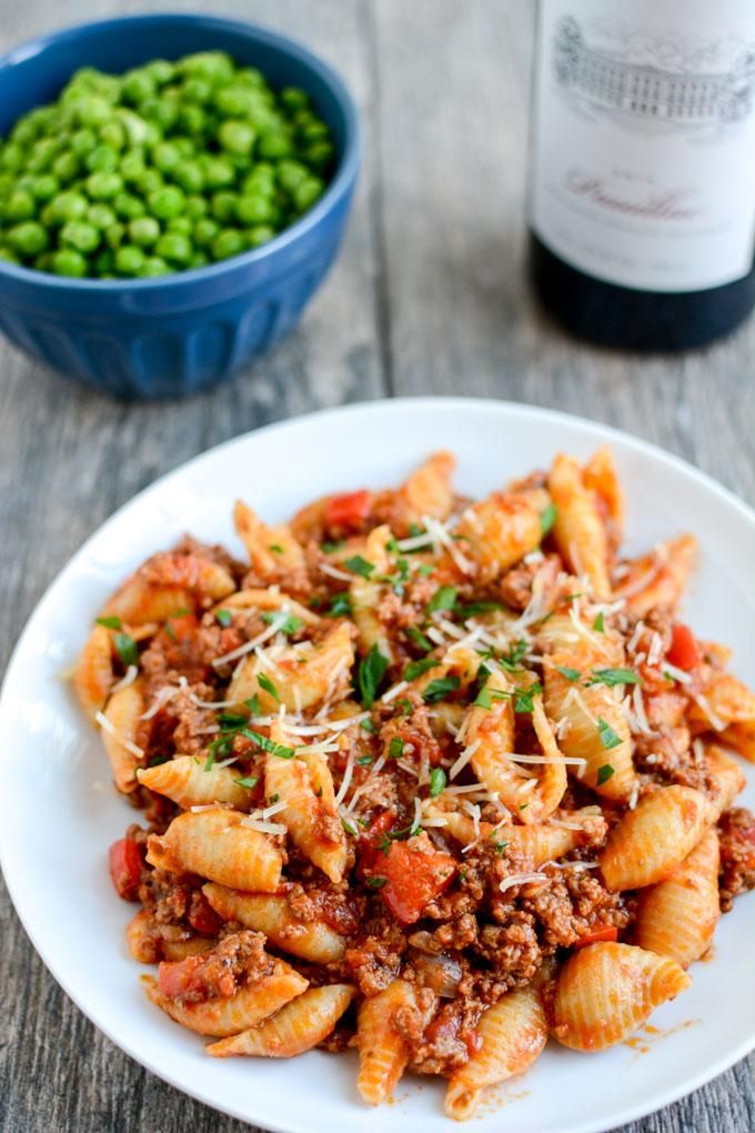 This Instant Pot Pasta With Meat Sauce Is A Simple Healthy Dinner Recipe The Whole