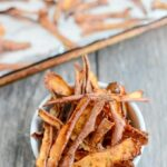 Cinnamon Sugar Sweet Potato Peels